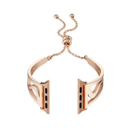 unique belts 2019 - Stainless Steel Bracelet Watch Strap Unique Pendant and Tassel Wrist Belt For Apple Watch 3 2 1 38mm 42mm