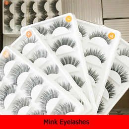 Korean False Eyelashes Wholesale NZ - 5 pairs a set Mink hair lashes False Eyelashes mink Strip Lashes Cruelty Free Korean Mink Lashes mixed styles natural false lash various