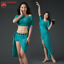 cotton club costumes 2019 - 2018 Women Belly Dance Costume Performance Club Stage 4 Pics Top & Skirt & Belt afety Bottom Pants danza del vientre che
