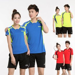 Sportswear T Shirt Badminton Australia - Li Ning authentic badminton t-shirt suit men women table tennis jerseys sportswear quick-drying short-sleeved tennis shorts train clothes