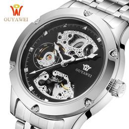 $enCountryForm.capitalKeyWord Australia - OUYAWEI Mechanical Automatic Watches Men's Wrist Watch Silver Skeleton Male Steel Band Waterproof Man Watch Relogio Masculino
