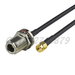 rp sma male plug UK - 1.6ft 50cm RF N Jack female bulkhead O-ring to RP-SMA Plug male Straight RG58 Pigtail Cable Antenna Feeder assembly