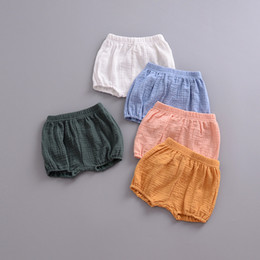 cute girls diapers NZ - INS Baby Unisex PP Shorts Children Boys Girls Cotton Linen Big PP Carry Diaper Shorts Cute Kids Pants Newborn Baby Boy Clothes