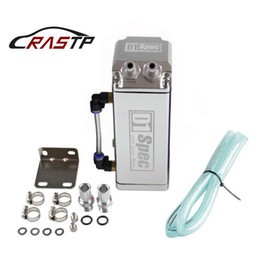 Discount performance parts RASTP -Universal D1 Turbo Engine Square Shape Oil Catch Tank Can Reservoir Performance - Silver,Red RS-OCC002