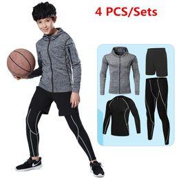 $enCountryForm.capitalKeyWord NZ - New kids compression running sets outdoor sport kit suit basketball soccer football fitness shorts shirts leggings pants jakcets