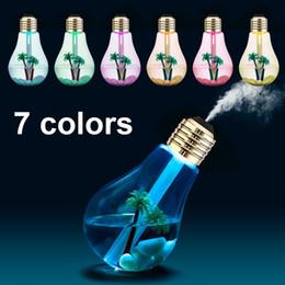 $enCountryForm.capitalKeyWord Australia - 400ML USB Lamp Bulb Humidifier DC 5V Night Light Air Ultrasonic Humidifier Oil Essential Aroma Diffuser Mist Maker Fogger