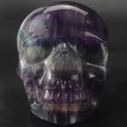 $enCountryForm.capitalKeyWord Australia - 2 INCHES Hand carved Deep purple fluorite skull, gemstone human alien head for healing Reiki Halloween gifts