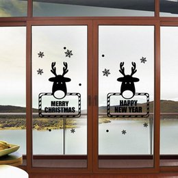 $enCountryForm.capitalKeyWord NZ - Merry Christmas Deer Window Wall Sticker Mural Glass Xmas Party Waterproof Removable Living Room Decoration Gift Wallpaper Home Art Decals