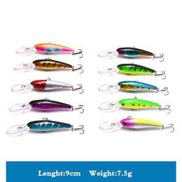 Saltwater Plastic Fishing Baits Australia - Long Tongue Lure Minnow Fishing Lure Bionic Hard Bait with 8# Treble Hook Plastic Fake Fishing Lure for 1.5-2.5 Meters Depth