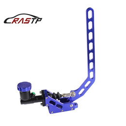 hydraulic brake lever NZ - RASTP-Aluminum Hydraulic Drift Hand Brake Racing Parking Handbrake Lever Gear With Locking Oil Tank Blue RS-HB917