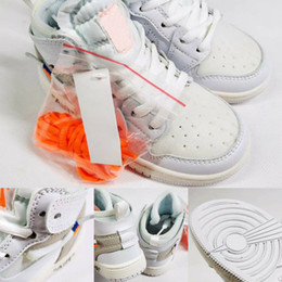 Off bOy online shopping - 2018 New Kids Off Shoes J1s Basketball Shoes Children Running Shoes Boy Girls Sorts Sneakers Toddlers Birthday White With Box