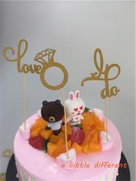 $enCountryForm.capitalKeyWord NZ - Set of 12 I Do, Love, Engagement Ring Cupcake Topper Bridal Shower Wedding Decorations