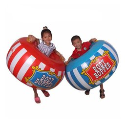 Chinese  2 pieces set Children Outdoor Sport Toys Inflatable Body Bucket Bumper Ball Sumo Bumper Bopper Sensory Training Inflatable Toys manufacturers
