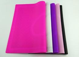 silicone table cover 2019 - Hot Salon Nail Art Tips Practice Silicone Table Cover Mat Pad Point Lace Printing Coloring Polish Gel UV Washable Foldab