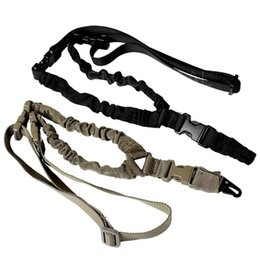TacTical poinT sling online shopping - Tactical Gun Sling Adjustable Single Point Bungee Rifle Strap System for Airsoft Hunting