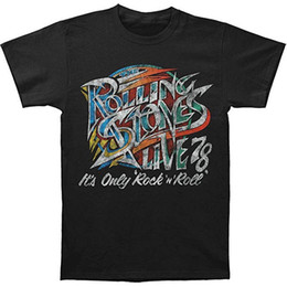 Stone men S clotheS online shopping - Rolling Stones Rock and Roll T Shirt All Sizes New Printed Summer Style Tees Male Top Fitness Brand Clothing