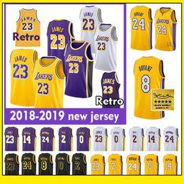 80654fa86 23 LeBron James LeBron Lakers jersey 24 Kobe Bryant Los Angeles Lakers 0  Kyle Kuzma 2 Lonzo Ball 14 Brandon Ingram Basketball Jersey