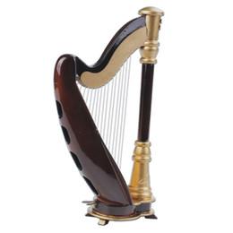 Vente en gros Livraison gratuite en bois Mini Instruments Modèle Harp Mini Modèle Harp