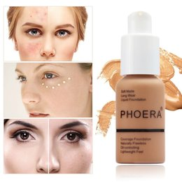 skin touch makeup 2019 - PHOERA Mineral Touch Brightening Concealer Facial Base Cream Brighten Moisturizer Face Liquid Foundation Makeup Primer M