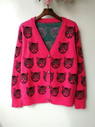 a8f61280b28 WOMEN S pull en tricot de coton et laine col V en maille cardigan Cardigan  en coton de soie stretch robe top lurex jacquard Pull en maille Mystic cat