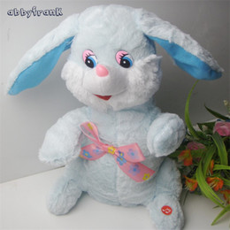 Wholesale Abbyfrank Electronic Plush Rabbit Dog Pets Toys Moving Ear Rabbit Dancing Musical Interactive Educational Toy Kids Birthday Gift