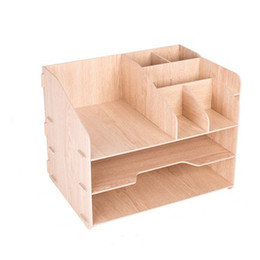 $enCountryForm.capitalKeyWord NZ - Desktop DIY Simple Woodiness File Data Pen Multi-Use Organizer Office Sundries Storage Box Rack Shelves Container