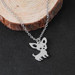$enCountryForm.capitalKeyWord NZ - Cute Chihuahua Pet Necklace Puppy Dog Gold Silver Alloy Pendant Necklaces Sweet Jewelry For Women Gift