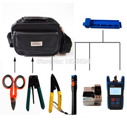 Optic Kits NZ - 8 in 1 FTTH Assembly Fiber Optic Tool Kit with FC-0709 Fiber Cleaver Optical Power Meter and Visual Fault Locator 10mw