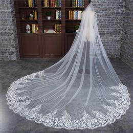 $enCountryForm.capitalKeyWord Australia - Free Shipping Hot Sale White One-layer Bridal Veils Scalloped Edge Church Long Bridal Wedding Veil Veu De Noiva