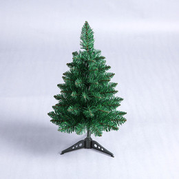new year desktop 2019 - 45cm Mini Artificial Green Pointy Christmas Tree Small Xmas Tree New Year Home Ornaments Desktop Decorations Christmas c
