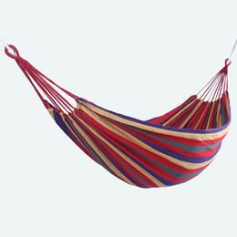 Équipement de voyage en plein air, camping de loisirs, double toile, loisirs en intérieur, double hamac simple, élargi, corde à nouer.