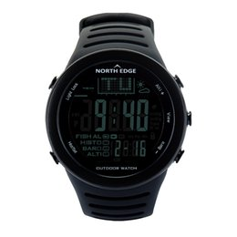 Thermometer Altimeter NZ - NORTH EDGE Fishing Altimeter Barometer Thermometer Altitude Men Smart Digital Watches Sports Climbing Hiking Clock Montre Homme