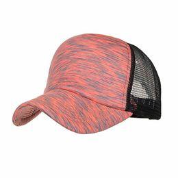 Baseball Cap Stripe UK - Summer Mesh Hat Female Fashion Women Men Adjustable Colorful Stripes Baseball Cap Hat Mesh Cap Shade Streetwear Hip Hop