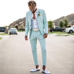 2019 النعناع الأخضر رجل الدعاوى يتأهل قطعتين شاطئ رفقاء العريس البدلات الرسمية للرجال الزفاف ذروته التلبيب رسمي prom البدلة (سترة + بنطلون)