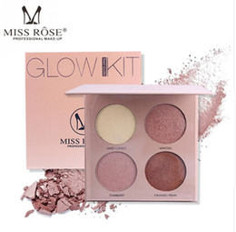 natural highlighters Canada - MISS ROSE 4 Colors Makeup Highlighter Palette Contouring Natural Facial Velvety Highlight Face Concealer