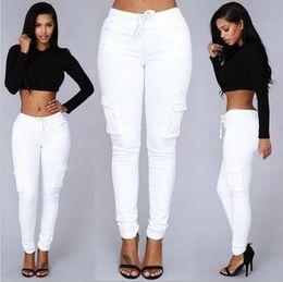 $enCountryForm.capitalKeyWord Canada - 8 Colors Ladies Casual Multi Pocket Pants Low Waist Solid Lacing Pencil Pants Capris Women Trousers Womens Pants