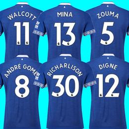 aea86bc30 Thailand MINA ANDRE GOMEZ EVERTON fc soccer jersey 2018 2019 ZOUMA DIGNE  RICHARLISON WALCOTT Everton jersey 18 19 football kit top shirt