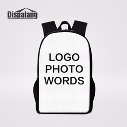 $enCountryForm.capitalKeyWord NZ - Dispalang Customized Design School Backpack Large Capacity Women Laptop Backpacks Children School Bags College Student Bookbag