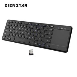 android iptv box wireless keyboard UK - Zienstar 2.4Ghz Touchpad Wireless Keyboard for Windows PC,laptop,ios pad,Smart TV,HTPC IPTV,Android Box