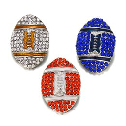 $enCountryForm.capitalKeyWord UK - 6pcs lot new fashion Sports Football Team Metal Snap Buttons Jewelry Fit DIY 18mm Snap Bracelet Replaceable Button Jewelry