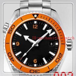 Orange Bezel Canada - Luxury New James Bond 007 Automatic Black Dial Orange Bezel Stainless Bracelet High Quality Mens Watch Men Sport Watches