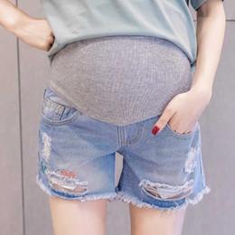 Leggings Pregnant Australia - New summer pregnant women jeans shorts wear pregnant women pants leggings thin