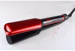 Straightening Iron Curls Canada - LCD Display Flat Iron Digital Temperature Control Straightening Irons Ceramic Hair Straightener Styling Product Curling 120-230 Degree