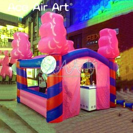 Wholesale quality floss for sale – custom Top quality inflatable candy floss stall station kiosk bar inflatable concession booth for Carnival party