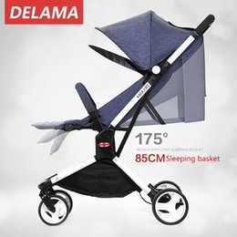 $enCountryForm.capitalKeyWord Canada - DELAMA denim High Landscape portable umbrella stroller lightweight folding stroller can sit lie folding baby stroller children