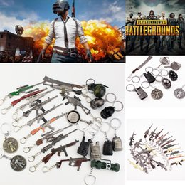 Discount toy rifles - Game PUBG Gun Model Keychain FPS Playerunknowns Battlefields Ornaments Rifle 98KAWM Metal Pendant Jewelry Child Gift Toy