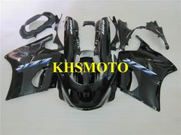 Kawasaki Fairing Kits Zx11 UK - Motorcycle Fairing kit for KAWASAKI Ninja ZZR1100 93 99 01 03 ZZR 1100 ZX11 1993 2001 2003 ABS Gloss black Fairings set+gifts ZD03