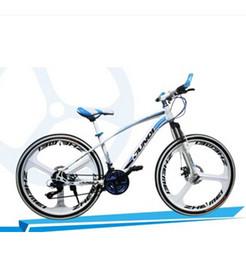 9107cad5e64 24 26 inch aluminum-speed dual-disc damping Steed three knife integrated  wheel mountain bike 27 24 21 speed road bike