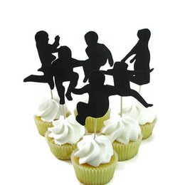 $enCountryForm.capitalKeyWord UK - New Year Jump Party Silhouette Cupcake Toppers Party Picks baby shower wedding birthday toothpicks decor