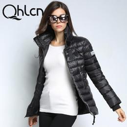 Womens Parkas Australia - QHLCN 2018 New Winter Women Clothes White Duck Down womens Parka Medium Length thickening Female Warm Jacket Coat High Quality